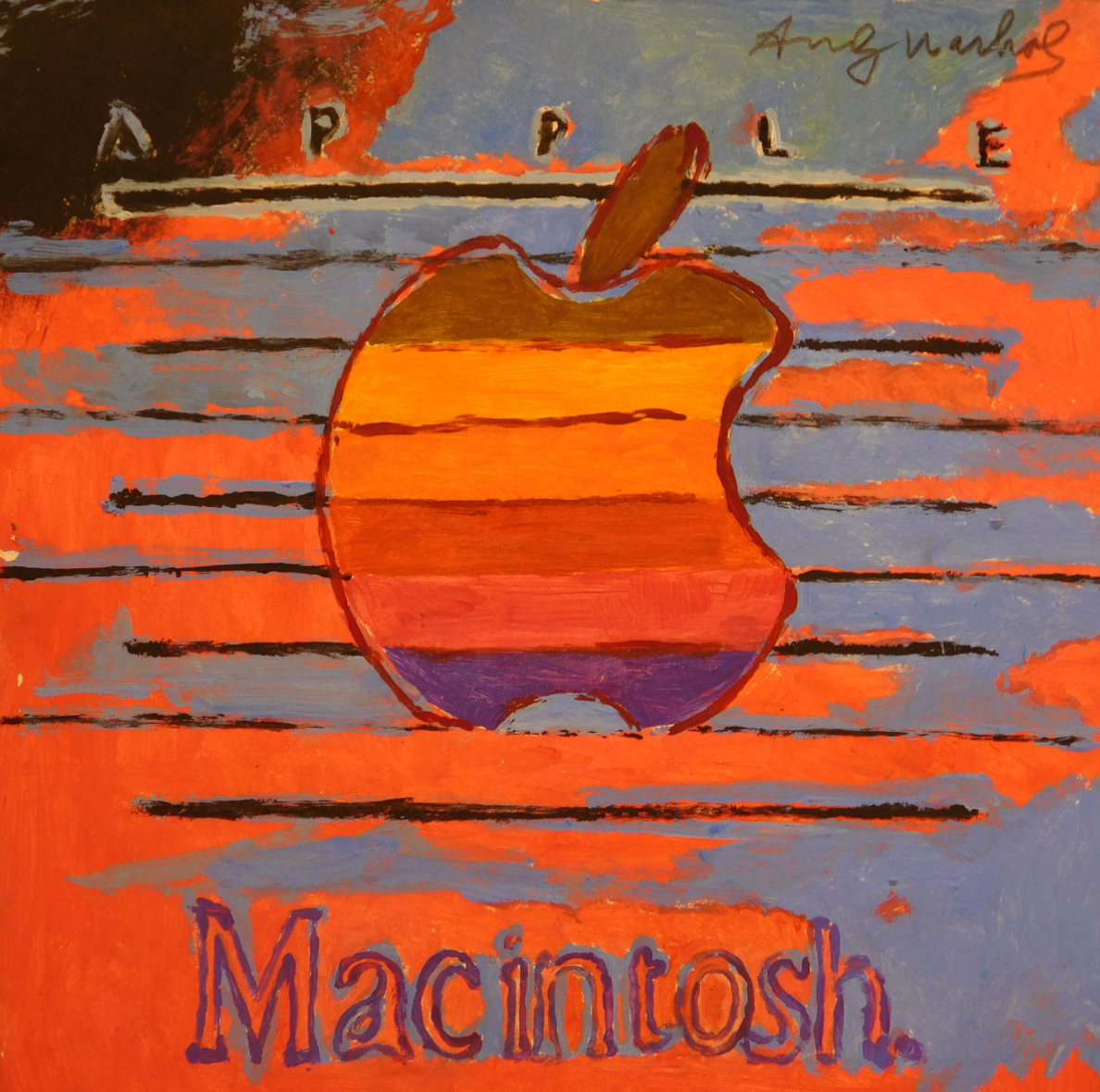 ple Macintosh Logo Gouache Study Attributed to Andy Warhol