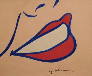 Roy Lichtenstein Lips