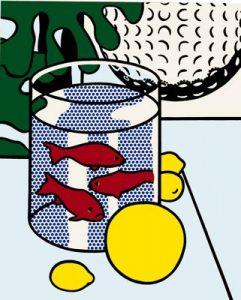 Roy Lichtenstein Matisse Still Life w Goldfish