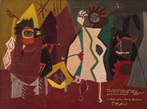 Roy Lichtenstein The assimiboins attacking a blackfoot village at fort mckenzies - 28 august 1833