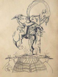 Salvador Dali: Surreal Figure Drawing With Unusual Signature