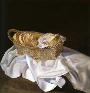 Salvador Dalí - The Basket of Bread -1926