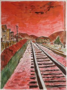 Bob Dylan: Train Tracks. From the Drawn Blank Series